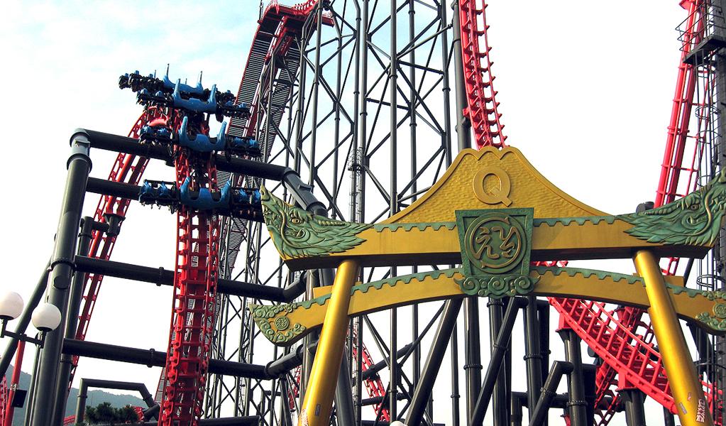 X2 roller coaster Los Angeles