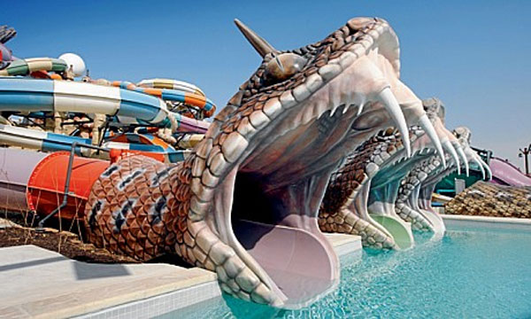 World S Largest Water Park In The World Yas Water World