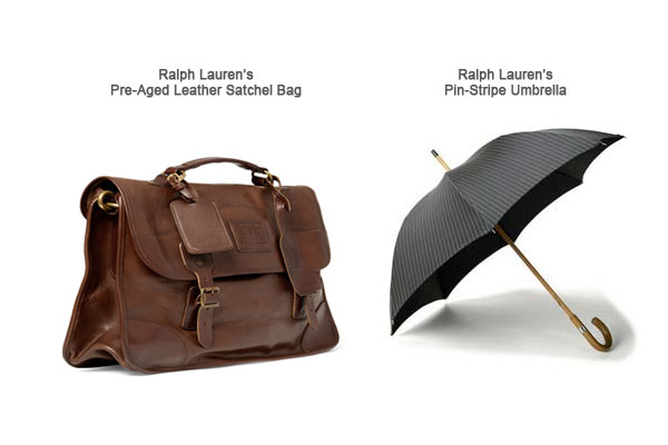 Ralph Lauren Satchel bag and Umbrella