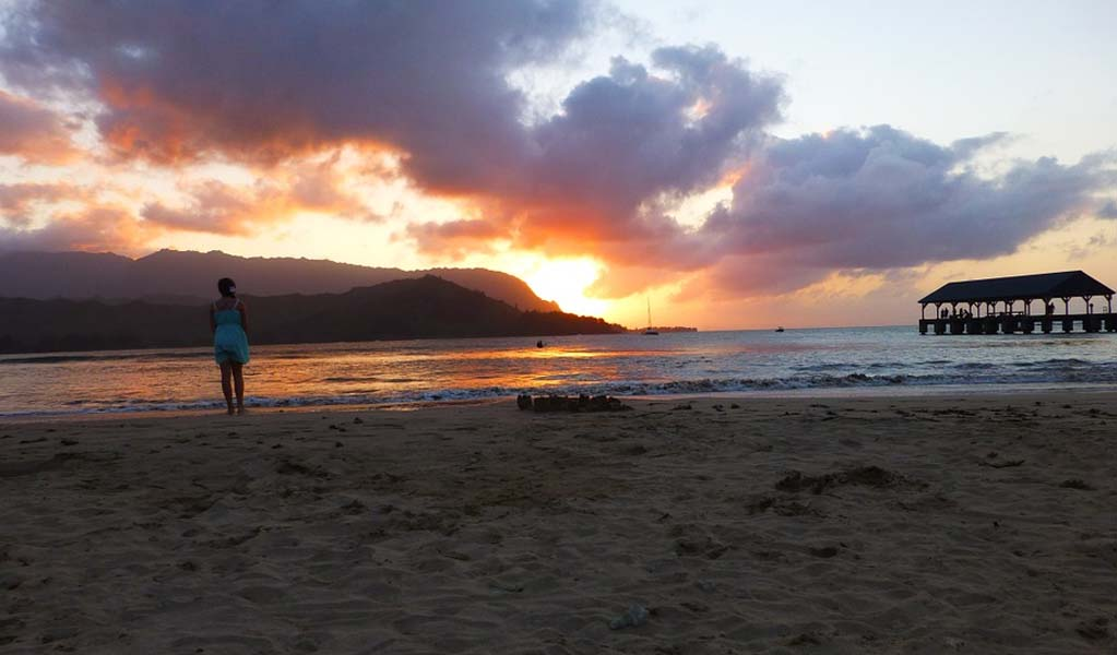 Hanalei Bay Beach, Hawaii