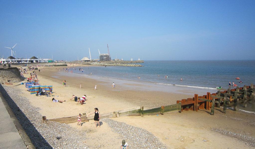 Lowestoft Beach, Suffolk, UK