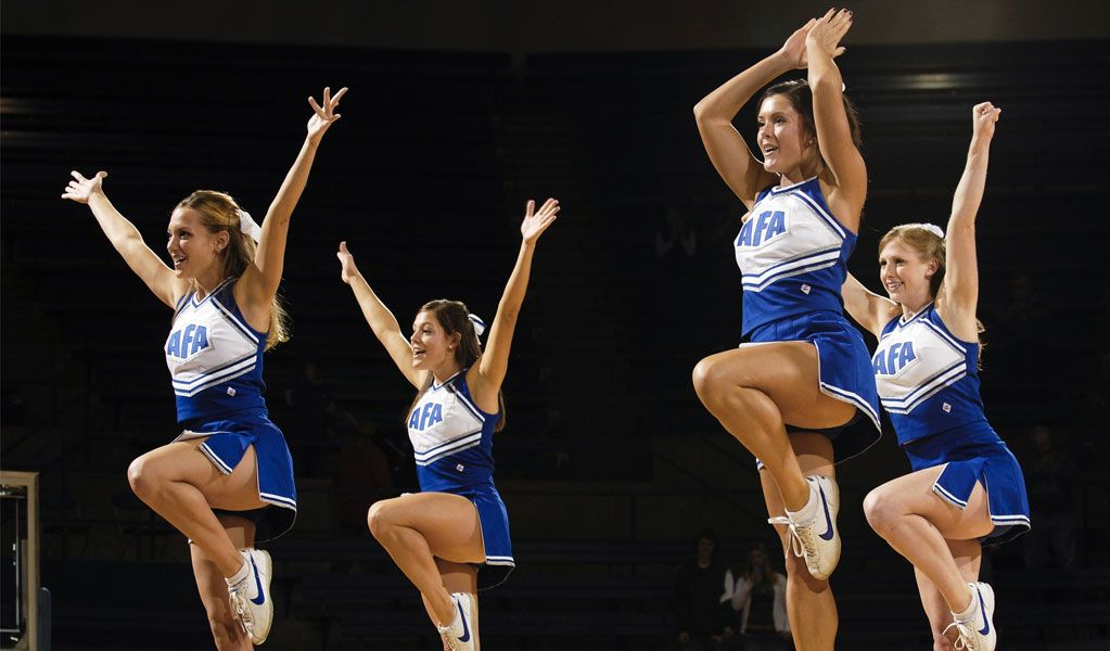 college girls doing Cheerleading