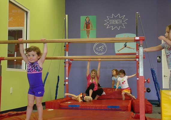 Kids gymnastics bars