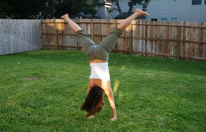 Cartwheel tricks gymnastics