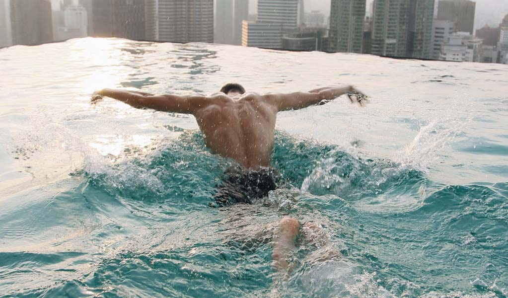 Man doing Swimming